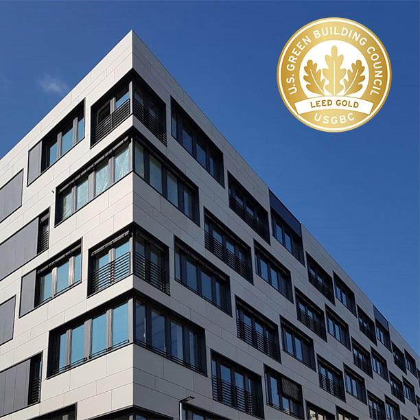 Mayoffice mit LEED Gold zertifiziert